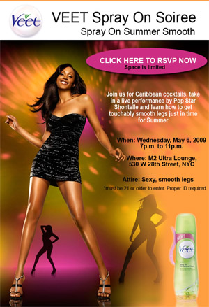 VEET's Spray On Soiree with Shontelle